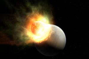 برخورد کیهانی اتمسفر یک سیاره را متلاشی کرد