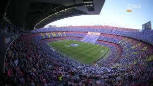 موزائیک زیبای هواداران بارسلونا در نوکمپ