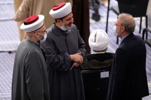 حضور لاریجانی در دیدار میهمانان کنفرانس وحدت اسلامى با رهبر انقلاب