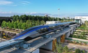 چین از سریعترین قطار جهان رونمایی کرد