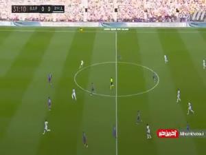 گل اول رئال مادرید به بارسلونا توسط دیوید آلابا