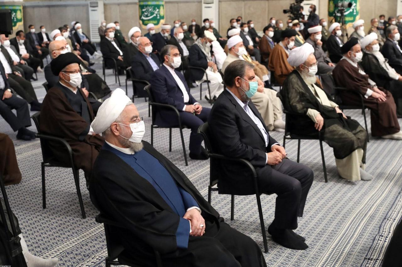عکس/ حضور روحانی و جهانگیری در دیدار با رهبر انقلاب