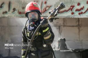 آتشسوزی در یکی از بیمارستانهای کرمانشاه