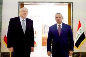 نخست وزیر لبنان وارد بغداد شد