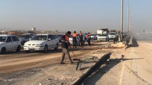 تصادف ۴ خودرو در جاده بوشهر-برازجان ۵ مصدوم به دنبال داشت