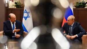 چرت وزیر صهیونیست حین دیدار بنت و پوتین