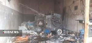 آتشسوزی در واحد فرآورده پنبه در گرمسار