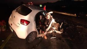 ۴ مصدوم در پی تصادف تریلی با یک دستگاه خودرو سواری در گلستان