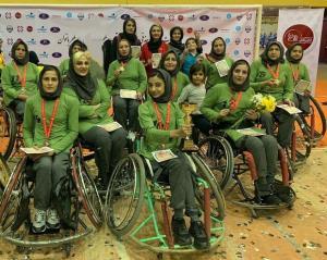 بانوان فارس در مسابقات بسکتبال با ویلچر سوم شدند