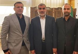 عکس یادگاری عزیزی خادم با نایب رئیس مجلس