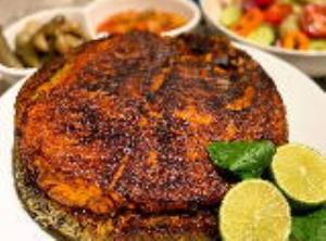 طبخ «ته انداز ماهی» اصیل جنوبی با سبزی های معطر