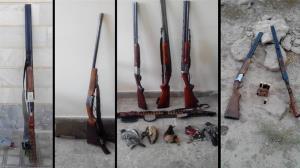 کشف ۲ قبضه اسلحه شکاری از متخلفان در زهک