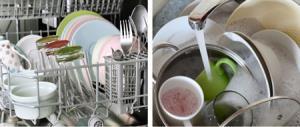 شستن ظرف با دست یا ماشین ظرفشویی