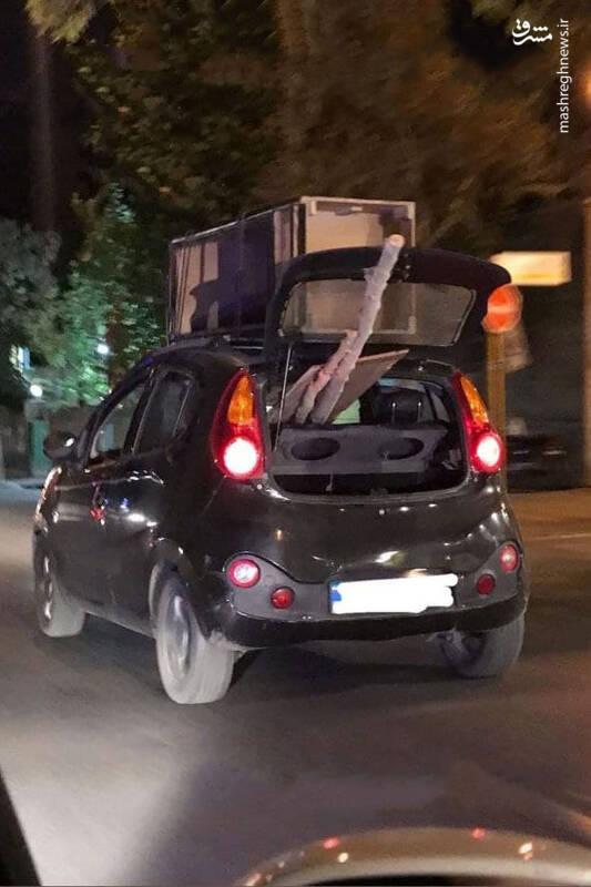 حمل عجیب و خطرناک بار با خودرو