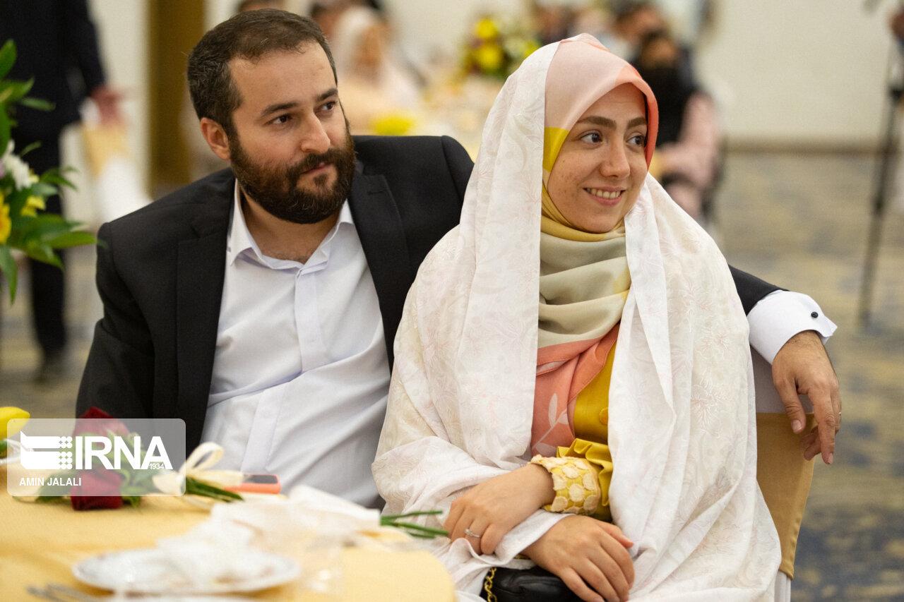 عکس/ بیست و چهارمین جشن ازدواج دانشجویی در تهران