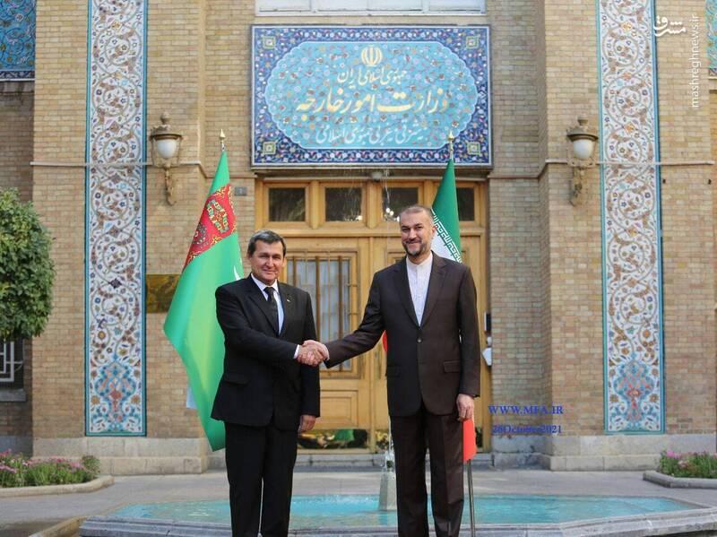 عکس/ دیدار وزرای خارجه ایران و ترکمنستان