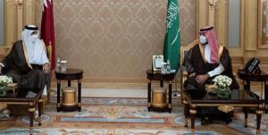 دیدار امیر قطر و بن سلمان درباره تحولات منطقه