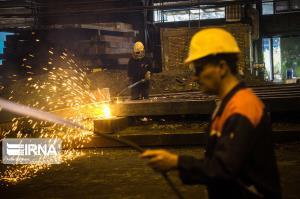 تولید حدود ۱۲.۹ میلیون تن فولاد خام در نیمه نخست امسال