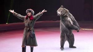 حمله خرس به مربی در سیرک