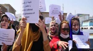 تظاهرات زنان در کابل در اعتراض به تعطیلی مدارس دخترانه