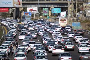 ترافیک سنگین در آزادراه کرج ـ تهران
