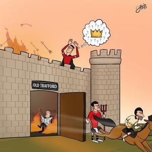 کاریکاتور/ محمد صلاح تاج پادشاهی رونالدو را قاپید!