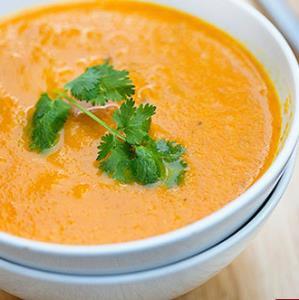 سوپ و آش/ پخت «سوپ هویج و سیب زمینی» پاییزی