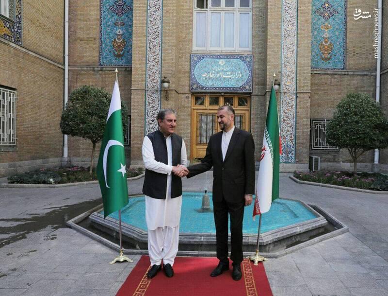 عکس/ دیدار وزیر خارجه پاکستان با امیرعبداللهیان