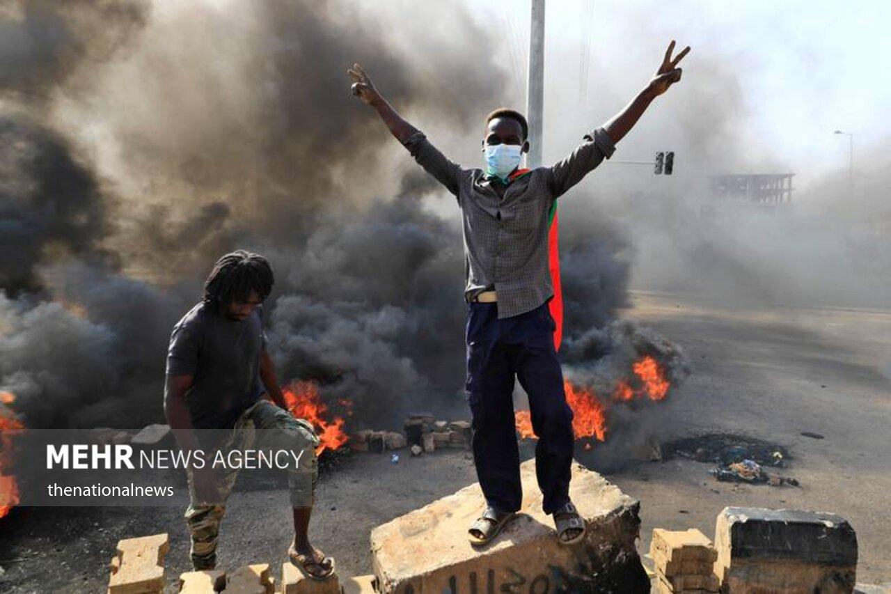 درگیری میان سربازان و معترضان در سودان