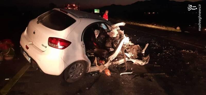 عکس/ تصادف شدید تریلی با خودروی تیبا
