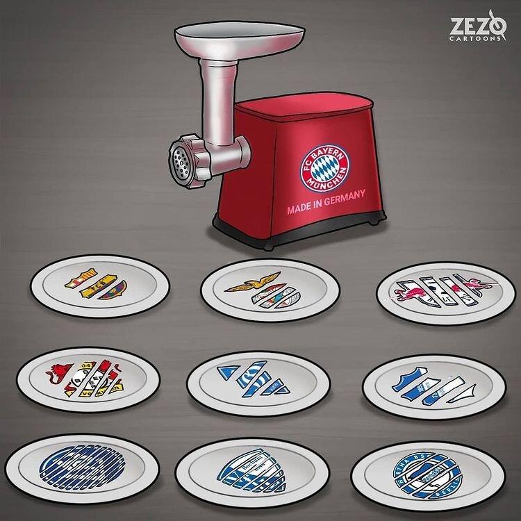 کاریکاتور/ چرخ گوشت مونیخیها را ببینید!