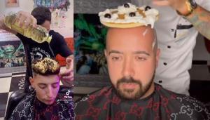 آرایشگری که روی سر مشتریان پاپ کورن و پیتزا میپزد!