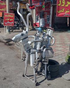 خلاقیت یک مغازه اگزوزی در شیراز