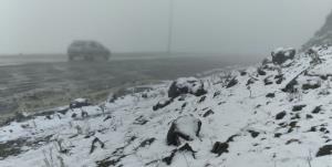 اولین برف پاییزی در منطقه گلیل شیروان