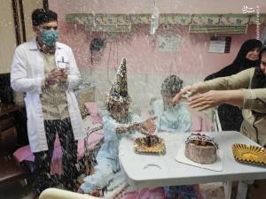 عکس/ جشن تولد پرستاران ایران برای کودک افغانستانی مجروح از حمله تروریستی