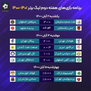 برنامه بازیهای امروز هفته دوم لیگ برتر