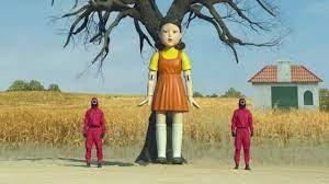 نصب عروسک «بازی مرکب» در پارک شهر سئول