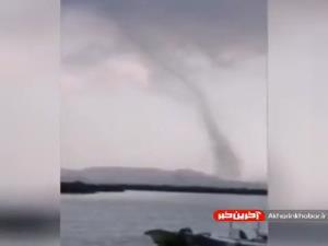 گردباد ترسناک در جزیره قشم
