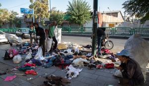 زبالههای رها شده در مرکز شهر تهران