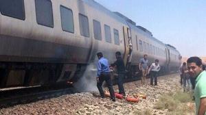 آتش سوزی قطار یزد-تهران در نایین خسارت جانی نداشت