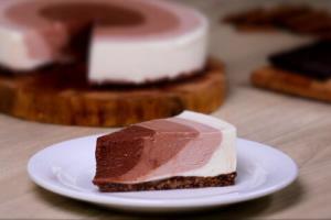 طرز تهیه چیز کیک بدون فر ماسالا با شیر گیاهی