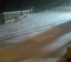 بارش برف پاییزی در منطقه دیلمان گیلان