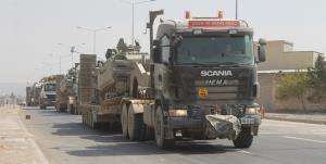 حرکت کاروان بزرگ نظامی ارتش ترکیه به سوی ادلب