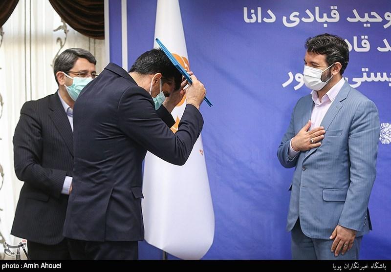 عکس/ ژست رئیس جدید سازمان بهزیستی در مراسم معارفه