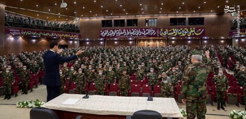 بازدید بشار اسد از دانشکده نظامی دمشق