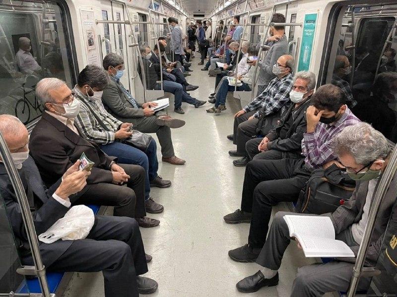 تصویری جالب از مترو