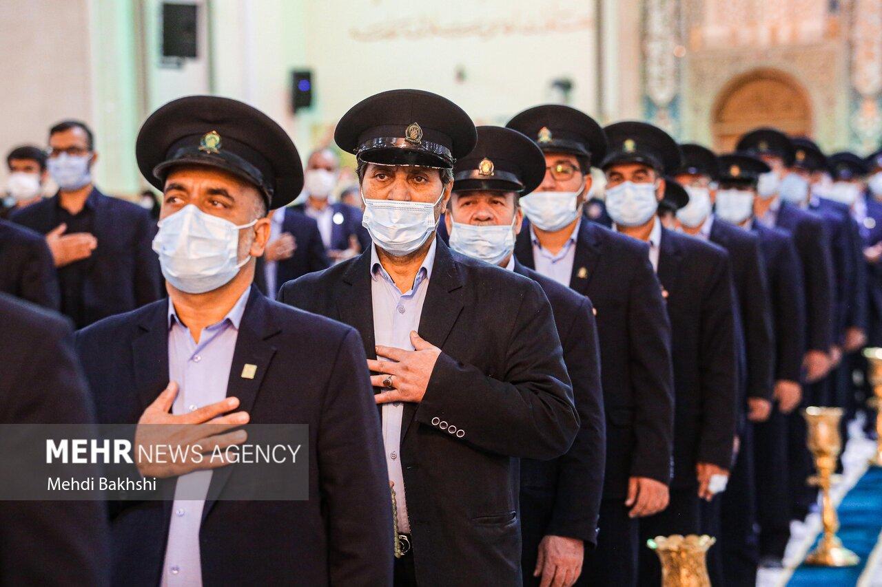 عکس/ آیین خطبه خوانی خادمان به مناسبت ورود حضرت معصومه(س) به قم