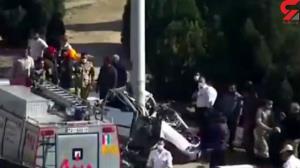 لحظه تصادف مرگبار در اصفهان
