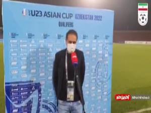 صحبتهای مهدویکیا سرمربی تیم امید ایران بعد از پیروزی مقابل امید لبنان