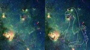گوناگون/ آیا شما هم میتوانید تصویر یک دایناسور را در این عکس ناسا ببینید؟